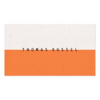 El bloque blanco anaranjado moderno del color tarjetas de visita
