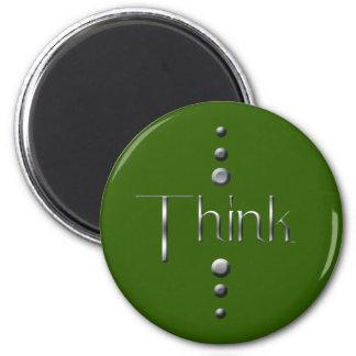 El bloque de plata de 3 puntos piensa y pone verde imán redondo 5 cm