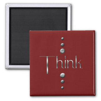 El bloque de plata de 3 puntos piensan y el fondo  imán cuadrado