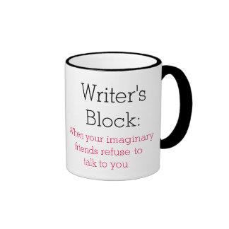 El bloque del escritor: cuando sus amigos taza de dos colores