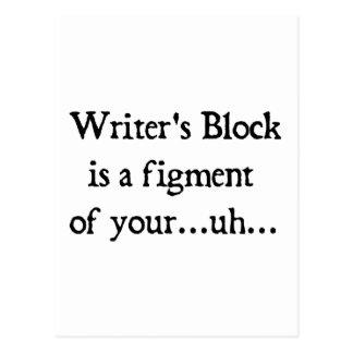 El bloque del escritor postales