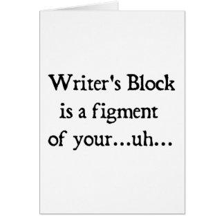 El bloque del escritor tarjeta de felicitación