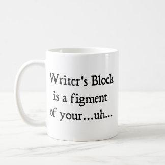 El bloque del escritor taza
