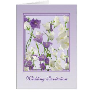 El Bluebell florece la tarjeta de la invitación de