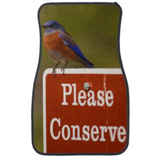 El Bluebird, conserva por favor Alfombrilla De Auto