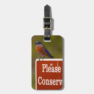 El Bluebird, conserva por favor Etiqueta De Equipaje