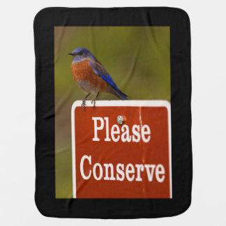 El Bluebird, conserva por favor Manta De Bebé