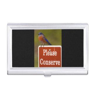 El Bluebird, conserva por favor Cajas De Tarjetas De Negocios