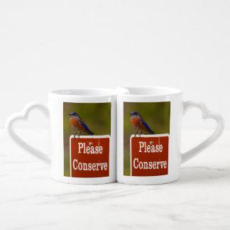 El Bluebird, conserva por favor Tazas Para Parejas