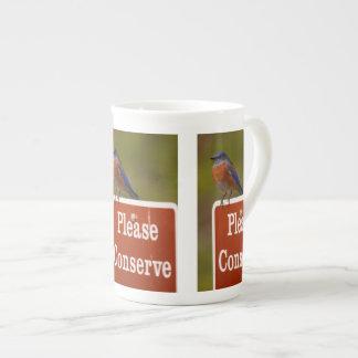 El Bluebird, conserva por favor Taza De Porcelana