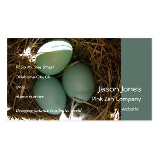 El Bluebird Eggs las épocas tres Tarjetas De Visita