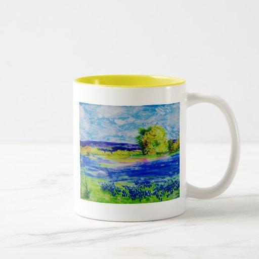el bluebonnet coloca para siempre tazas de café