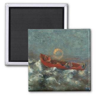 El Boat rojo, 1905 Imán De Nevera