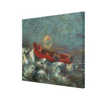 El Boat rojo, 1905 Lona Estirada Galerias