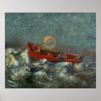 El Boat rojo, 1905 Posters