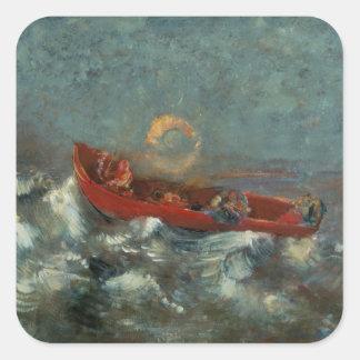 El Boat rojo, 1905 Pegatinas Cuadradases Personalizadas