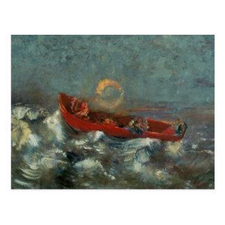 El Boat rojo, 1905 Postal