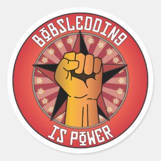 El Bobsledding es poder Pegatina Redonda