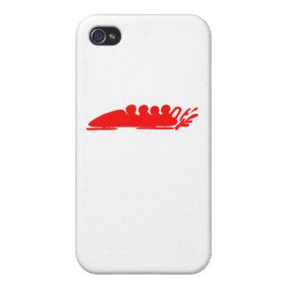 El Bobsledding rojo iPhone 4 Protector