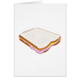 El bocadillo de jamón tarjeta de felicitación