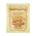 El bocadillo famoso de Muffuletta Impresiones En Lona