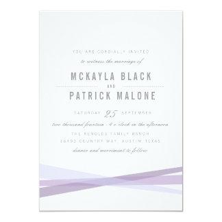"""El boda abstracto invita - a púrpura invitación 5"""" x 7"""""""