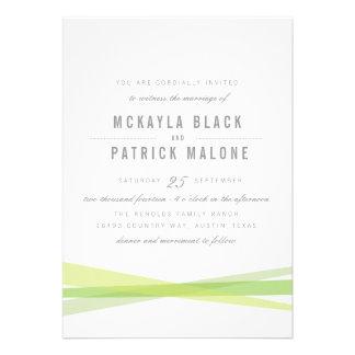El boda abstracto invita - a verde