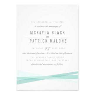 El boda abstracto invita - al azul