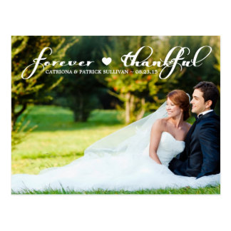 El boda agradecido de la foto le agradece para sie tarjetas postales