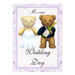 , El boda alto de los osos de peluche invita - a l
