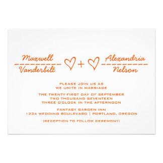 El boda anaranjado de la ecuación del corazón invi comunicados