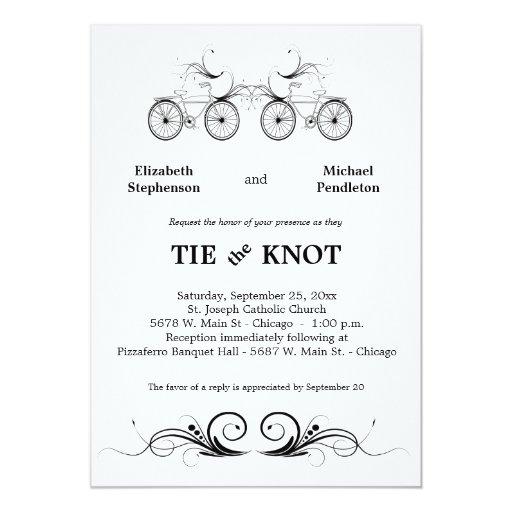 El boda antiguo elegante de la bicicleta invita invitaciones personales