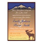 El boda artístico de los alces de encargo invitación 12,7 x 17,8 cm