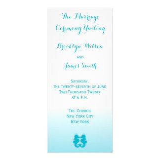 El boda azul blanco del Seahorse programa tarjetas Tarjeta Publicitaria Personalizada