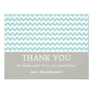 """El boda azul de Chevron le agradece las tarjetas Invitación 4.25"""" X 5.5"""""""