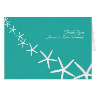 El boda azul de las estrellas de mar de la laguna  felicitaciones