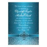 El boda azul de lujo del copo de nieve del navidad anuncios