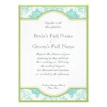 El boda azul de Quatrefoil del iris de la cal de l Invitaciones Personales