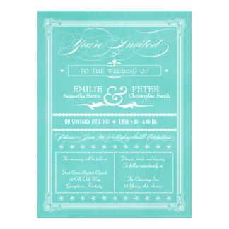 El boda azul del estilo del poster del huevo del p comunicados