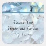 El boda azul del Hydrangea le agradece los Pegatina Cuadradas
