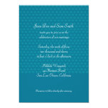 El boda azul del modelo invita invitación 12,7 x 17,8 cm