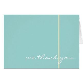 El boda azul le agradece cardar tarjeta pequeña
