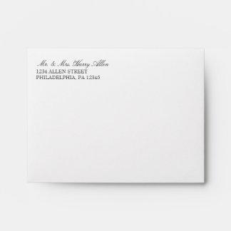 El boda básico 3x5 del sobre el | invita a |white
