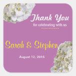 El boda blanco de la orquídea le agradece etiqueta