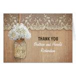 el boda blanco del tarro de albañil del hydrangea tarjeta pequeña