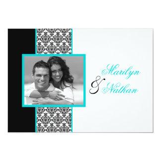 El boda blanco negro de la foto del damasco de la anuncio