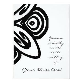 El boda blanco y negro del diseño invita invitación 16,5 x 22,2 cm