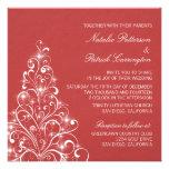 El boda brillante del árbol del día de fiesta invi comunicados personalizados