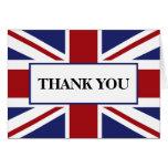 El boda británico de la bandera de Union Jack le Tarjeta De Felicitación