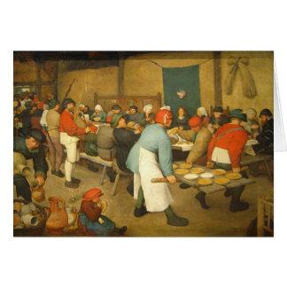 El boda campesino - 1568 tarjeta pequeña